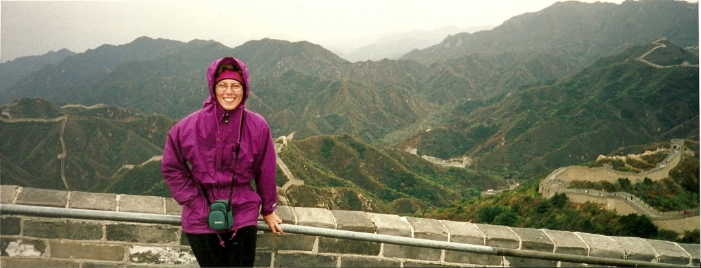 sherry at great wall of china